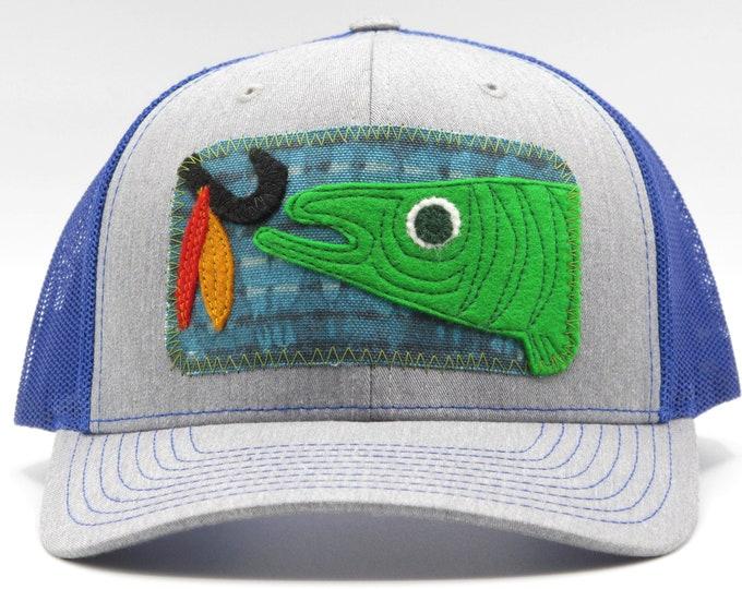 Hook that Fish Blue Baseball Hat / Trucker Hat