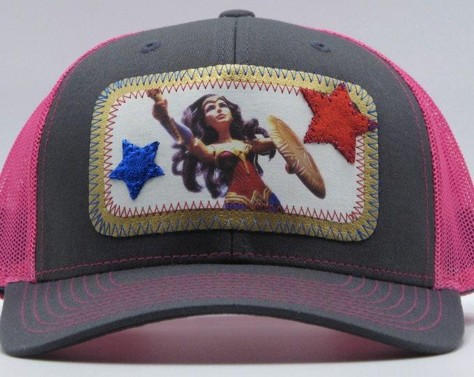 Wonder Woman Pink Baseball /Trucker Hat