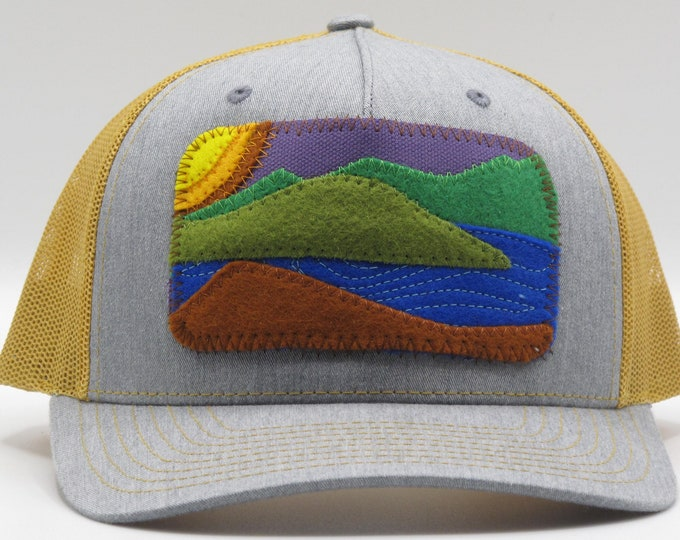 Mountain Lake 70's Vibe Gold Baseball Hat / Trucker Hat