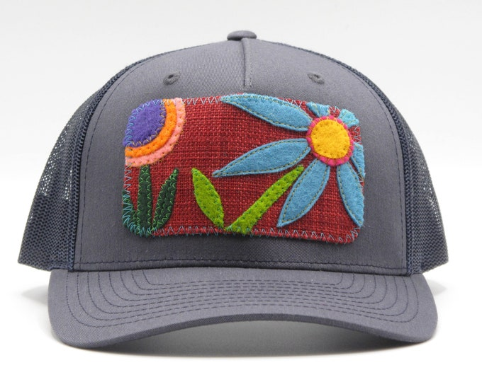 Big Blue Flower Baseball Hat / Trucker Hat