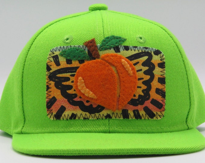 Life is Peachy Lime Toddler Baseball Hat / Trucker Hat