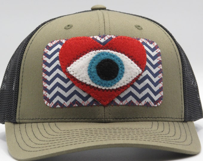 All Seeing Heart Zig-Zag Baseball Hat / Trucker Hat