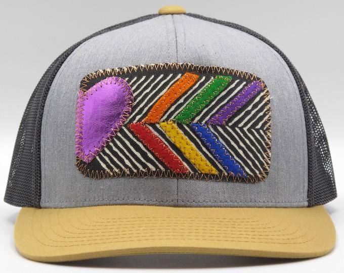 Purple Heart, Rainbow Chevron Baseball Hat / Trucker Hat