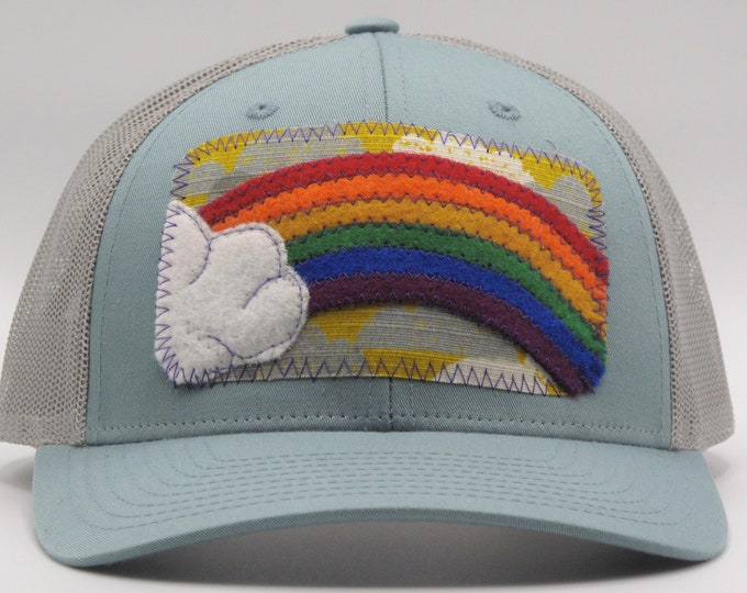 Rainbow in the Clouds Baseball Hat / Trucker Hat