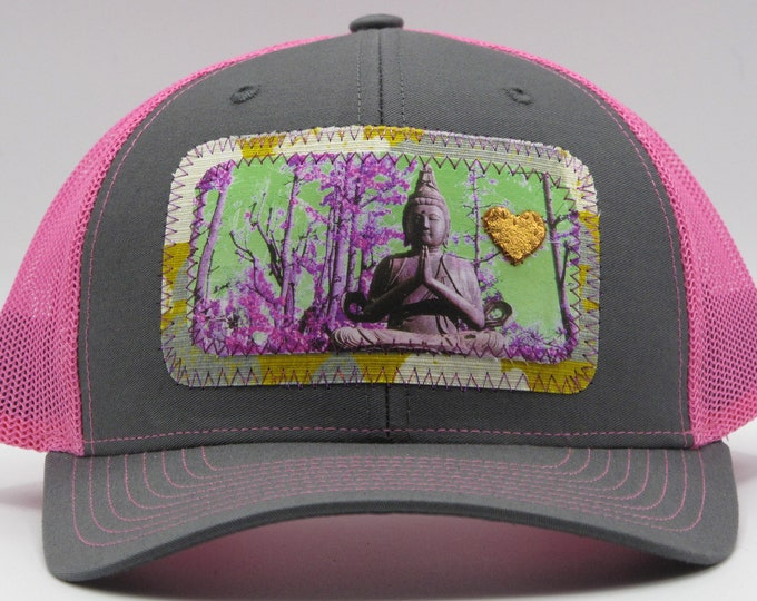 Buddha of the Forest Pink Baseball Hat / Trucker Hat
