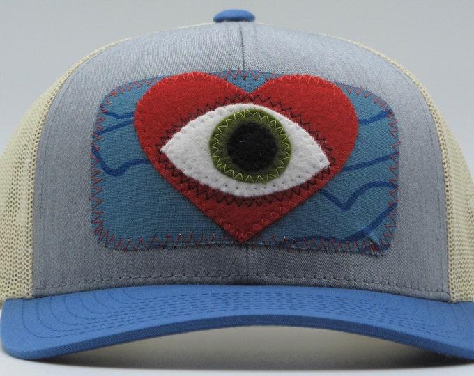 All Seeing Heart Blue Baseball Hat / Trucker Hat