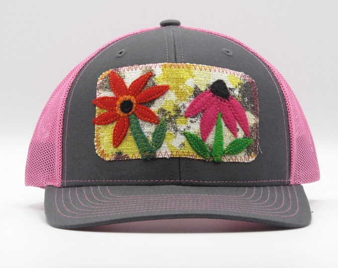 Cone Flower Pink Baseball Hat/Trucker Hat