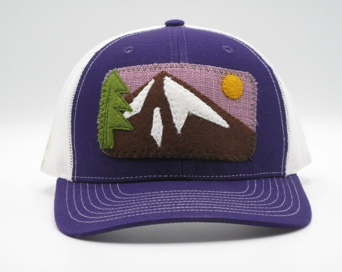 Sunny Mountain Purple Trucker/Baseball hat