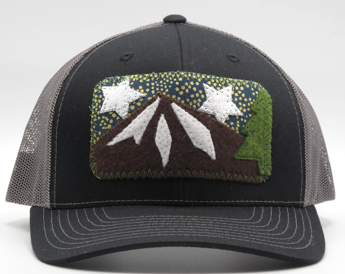 Night Sky Black Baseball Hat / Trucker Hat