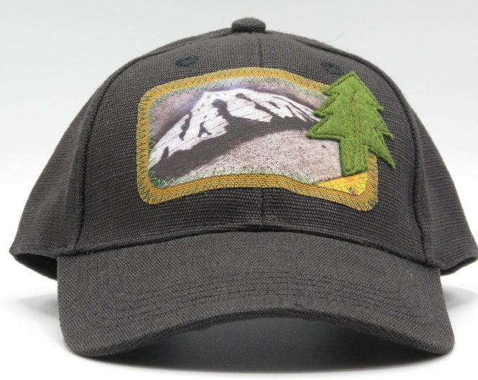 Mt. Hood Graffiti Black Hemp Baseball Hat
