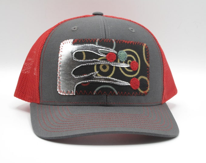 Baseball Hat/Trucker Hat Winter Tree Red