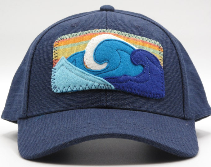 Blue Wave Hemp Baseball Hat