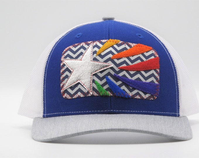 Rainbow Star Trucker/Baseball Hat
