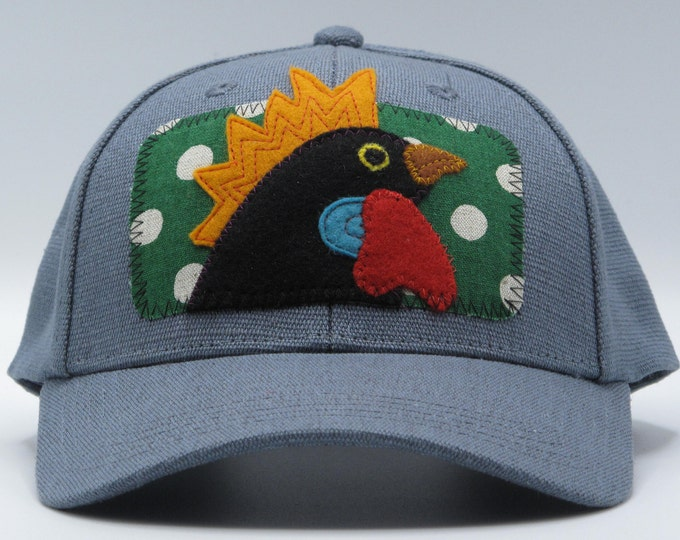 Black Chicken, Black Rooster Hemp Baseball Hat