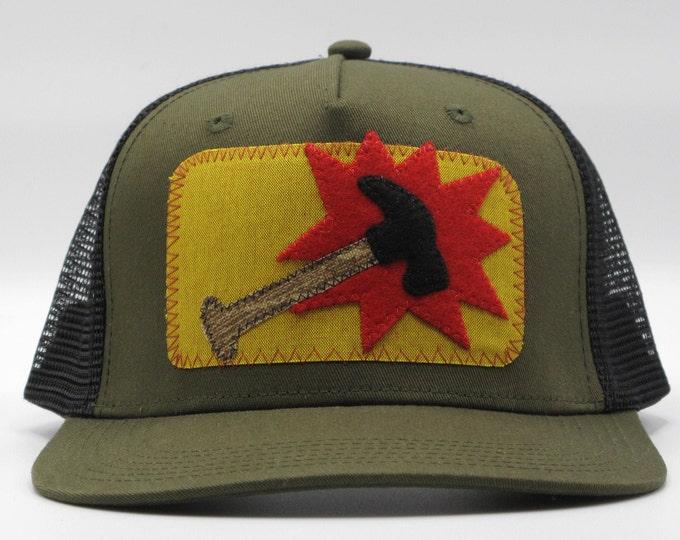 Mighty Hammer Flat Bill Hat