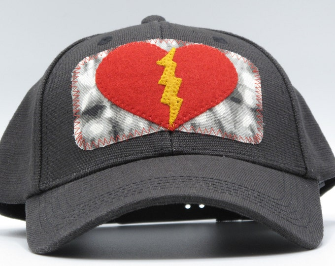 Lightening Heart Black Hemp Baseball Hat