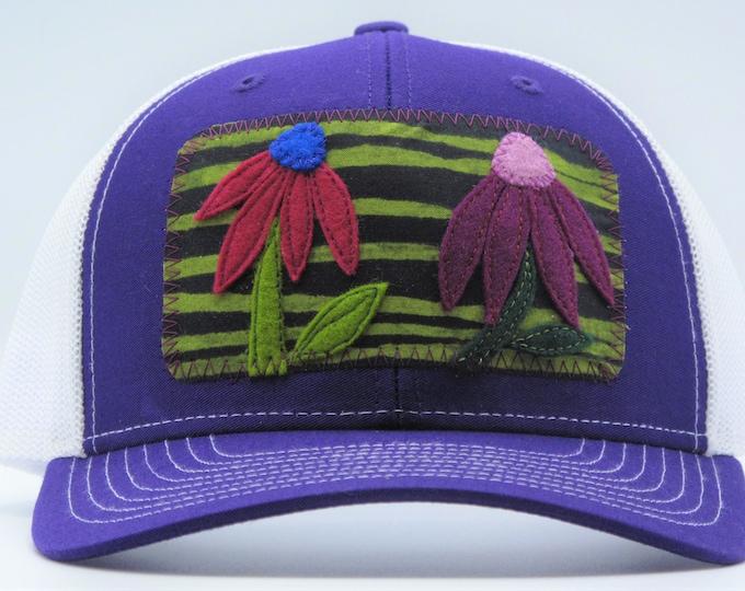 Coneflower Purple Baseball Hat / Trucker Hat