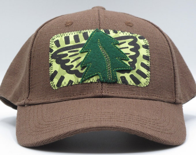 Tree Angel Brown Hemp Baseball Hat - Save the Redwoods Donation for each hat sold