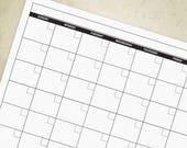 Blank Monthly Calendar fo...