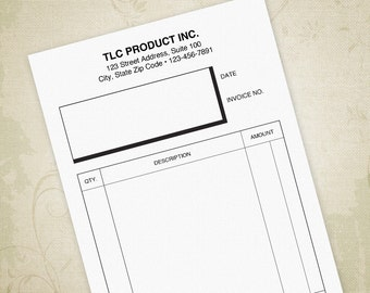 invoice printable form digital download bill of sale sales etsy