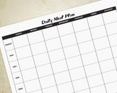 Daily Meal Planner Printa...