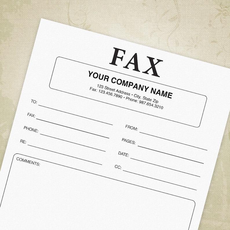 Fax Cover Sheet Druckbarer Form Deckblatt Vorlage Fur