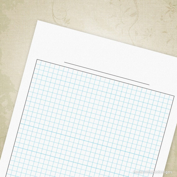 Blank Graph Paper Printable Digital Download For Clipboard