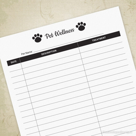 photo about Dog Health Records Printable named Pet dog Well being Log Printable for Canine Home owners, Exercise Background, Animal Disorder Log, Pet dog Exercise Tracker, Electronic Document, Fast Obtain, phl001