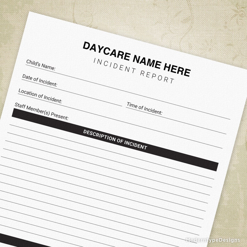 photograph about Printable Daycare Forms known as Accident Posting Printable, Daycare Variety, Youngster Incident, Ouchie Sheet, Editable Popularity, Electronic Report, Instantaneous Down load, irf001