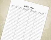Sign In Sheet Printable, ...