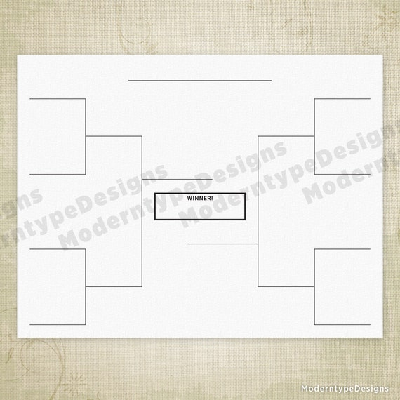 image regarding Printable Brackets referred to as Sporting activities Brackets Printable Electronic Obtain, Event, Solitary Removal, 32, 16, 8 Groups Bracket, Blank Brackets, sbf001