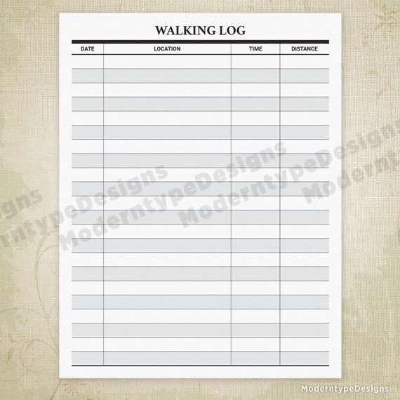 photo about Printable Walking Log known as Going for walks Log Printable, Strolling Tracker Kind, Length Monitoring, Walkers, Physical fitness Planner, Diary, Electronic Record, Quick Down load, wal001
