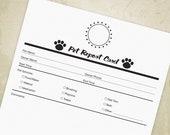 Pet Report Card Printable...