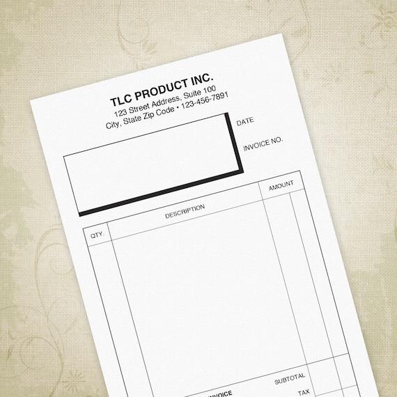 Kleine Rechnung Form Druckbare 55 X 85 Halbe Blatt Etsy