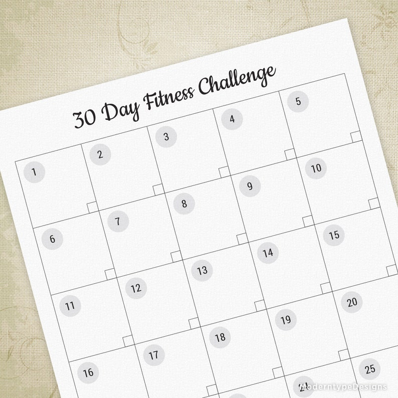 photo about 30 Day Abs Challenge Printable referred to as 30 Working day Health and fitness Situation Printable, Health Planner, Exercise session Log, Each day Tracker, Electronic History, Quick Obtain, wol002