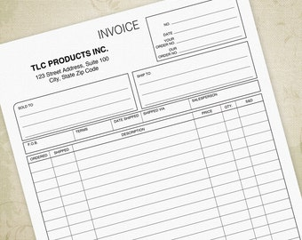 Invoice Printable Form PDF Digital Download, Bill of Sale, Sales Invoices, Invoice for Business, Editable Custom Template