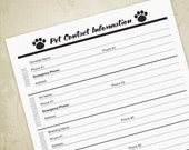 Pet Contact Info Printabl...