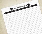 Pet Wellness Log Printabl...