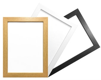 A3 Picture Photo Frame Modern Flat Box Moulding Hang or Stand in both Portrait and Landscape Orientation Wood Effect FNB.A3