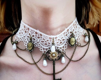 THE PERFECT PEARL {Victorian Necklace, Steampunk, Jewelry}