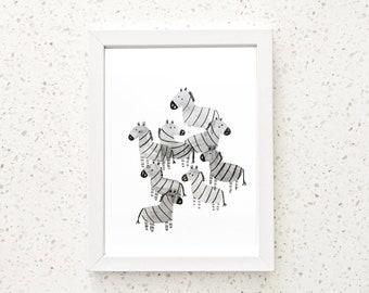 monotone zebra pack