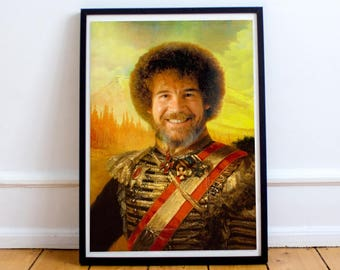 Bob Ross Classic Painting Photoshop Poster 5x7 8x10 12x16 13x19 18 x 24