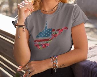 96292446f1d West Virginia State Patriotic Shirt