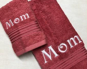 Custom Towel Embroidered Name - Personalized gift - Housewarming gift - Anniversary keepsake - Wedding present - Christmas gift