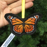 Monarch Butterfly tree ornament - Christmas decoration - Gift for her - Monarch butterfly lover gift