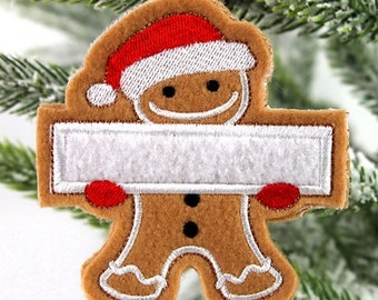 Gingerbread Family Ornament - Personalized tree ornament - Keepsake - Xmas tree decoration - Personalized gift - Christmas gift