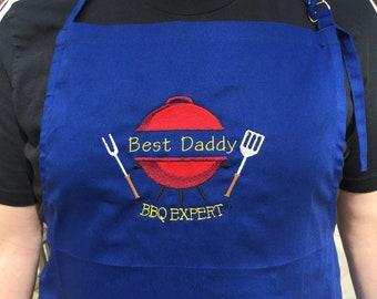 Custom Apron - BBQ Expert Apron - Custom gift for dad - Gift for him - Christmas gift