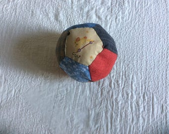Toy ball in cotton patchwork