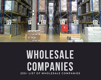 250+ Wholesale Distributor List U.S.A. Wholesalers for Resale US Suppliers Canada | PC MAC | Excel, Sheets, Numbers