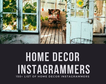 150+ Home Decor Instagrammers List - Home Decor Influencers, Influencer Marketing, Instagram Marketing | PC MAC | Excel, Sheets, Numbers